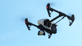 Drone Helicopter Flying Close Up
