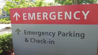 Emergency Room Parking Sign At Hospital