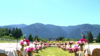 Empty Outdoor Wedding Aisle