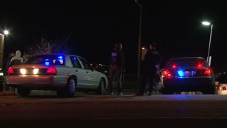 FBI At Crime Scene At Night