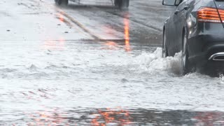 Flooded Streets After Big Rain Storm