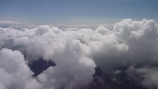 Flying Over Clouds Aerial