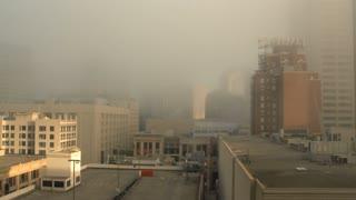 Foggy Cityscape Time Lapse