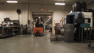 Forklift Driver With Full Load