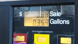 Gas Station Pump Prices Filling Up Time Lapse