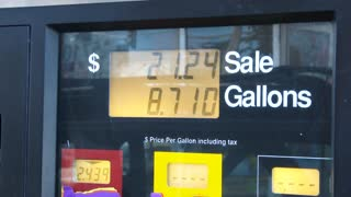 Gas Station Pump Prices Filling Up