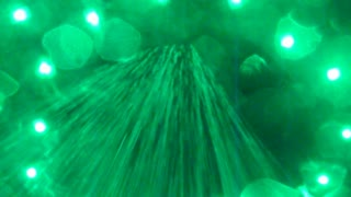 Green Liquid Falling From Above Effect