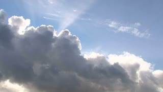 Heavenly Clouds And Sun Shining Time Lapse