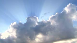 Jesus Light Sunshine Through Cloud Time Lapse