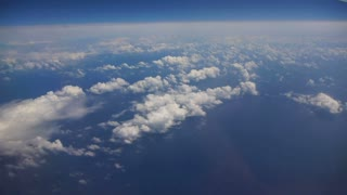 Jet Stream Flying Over Ocean Aerial