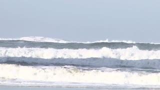 Large Ocean Wave Crashing With Sound