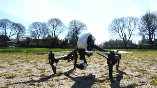 Large Quadcopter Drone Taking Off
