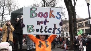 Little Boy Wants Books Not Bullets