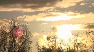 Majestic Sundown Clouds And Trees Sunset Time Lapse