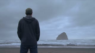 Man Watching The Sea Time Lapse