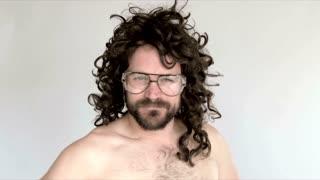Man With Funny Wig Feels Pretty