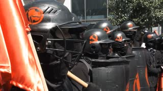 Members Of The Antifa Ready For Battle