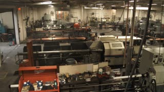 Metal Working Factory Machine Room
