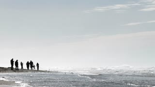 Minimalism Beach People Lower Thirds With Open Space