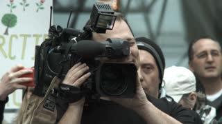 News Cameraman At Sporting Event