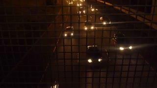 Night Traffic On Highway Time Lapse