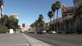 People Walking On Las Vegas Boulevard