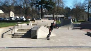 Person Skateboarding At Park