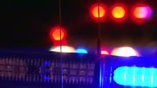 Police Flashing Lights Close Up