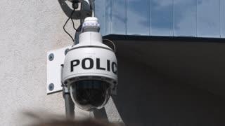Police Security Camera In Public