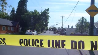Police Tape Closing Road