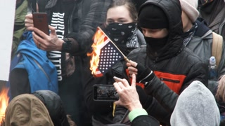 The Burning Of The United States Of America Flag Protest