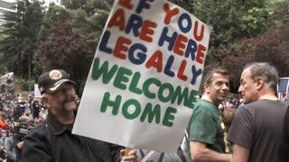 Republican Man Against Illegal Aliens In America
