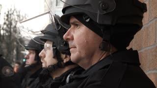 Riot Police Prepare For Protest