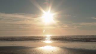 Sun Over Ocean Horizon Beach Scenic