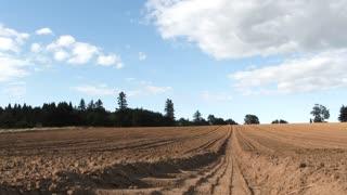 Sun Shines On Fertile Soil Farm Time Lapse