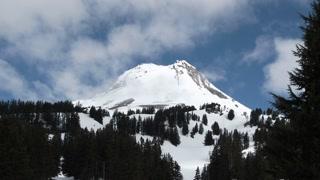 Sunny Mount Hood Oregon Establishing Time Lapse Scenic