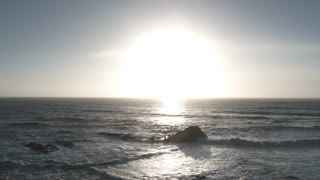 Sunny Ocean Horizon At The Oregon Coast