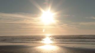 Sunset Beach Boy Enjoying Beautiful Day All Alone