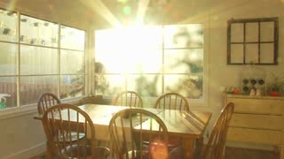 Sunset In Dining Room Home Time Lapse