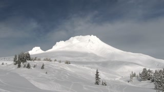 Time Lapse On Sunny Mt Hood