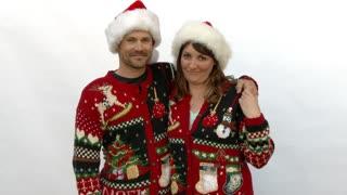 Ugly Sweater Christmas Couple