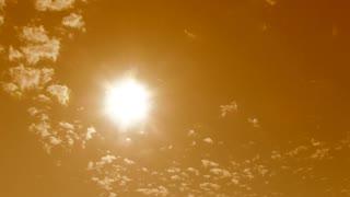 Warm Sky Sunny Cloudscape Time Lapse