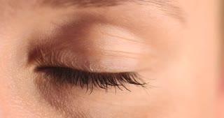blue eye of woman.