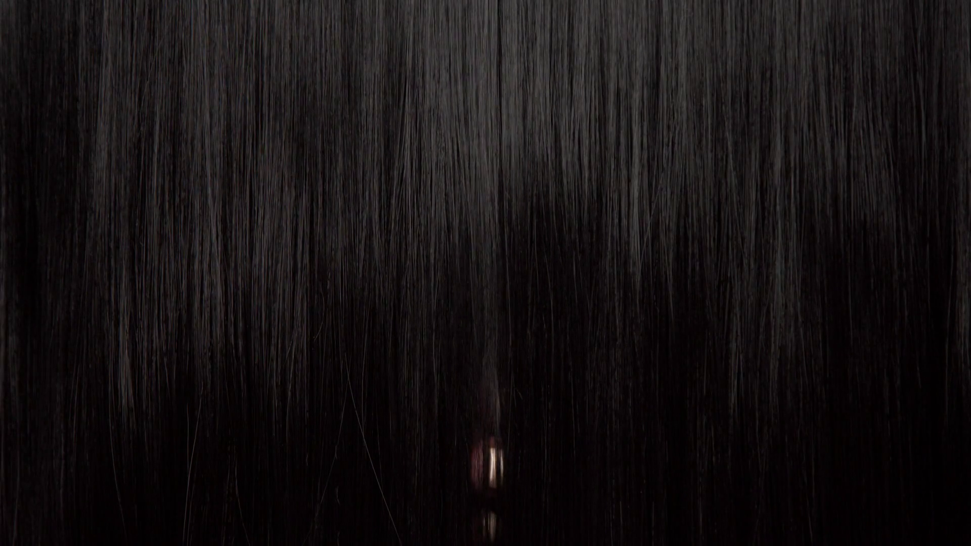 Hair texture background, no person. Black shiny hair Hands touching it Stock Video Footage ...