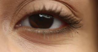 one eye closeup looking at camera