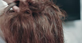 slowmotion of drying hair process