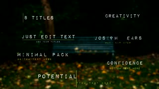 8 Titles - After Effects Template