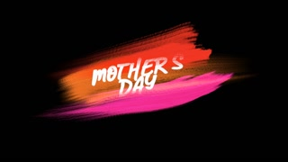 Animation text Mother Day on purple and red fashion and brush background. Elegant and luxury dynamic style for business and corporate template