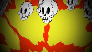 Halloween background animation with the skulls