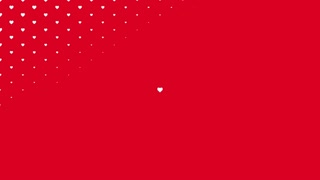 Valentine's day shiny background. Animation romantic heart